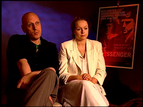 oren moverman and samantha morton on why he wanted to make the film at the 'the messenger' junket at beverly hills ca - oren moverman stock videos and b-roll footage
