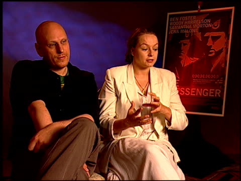 oren moverman and samantha morton on why she wanted to be in the film at the 'the messenger' junket at beverly hills ca - oren moverman stock videos and b-roll footage