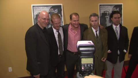 oren moverman, ben foster, woody harrelson and adam yauch at the 'the messenger' new york premiere at new york ny. - woody harrelson stock videos & royalty-free footage
