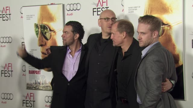 oren moverman woody harrelson ben foster at the 2011 afi fest millennium entertainment's 'rampart' special screening at hollywood ca - oren moverman stock videos and b-roll footage