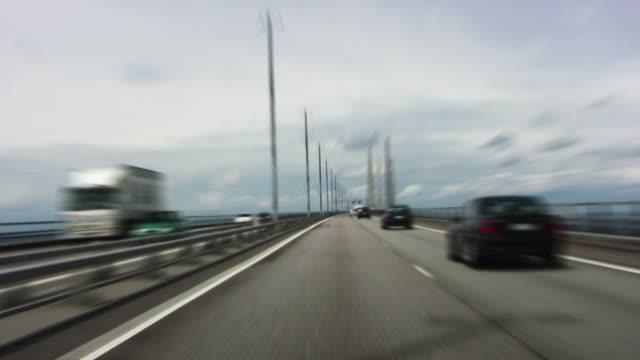 vídeos y material grabado en eventos de stock de puente de oresund - oresund escandinavia
