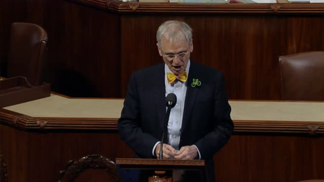 Organ Congressman Earl Blumenauer delivers a critique of President Donald Trump and his first annual message to Congress at a joint session the night...