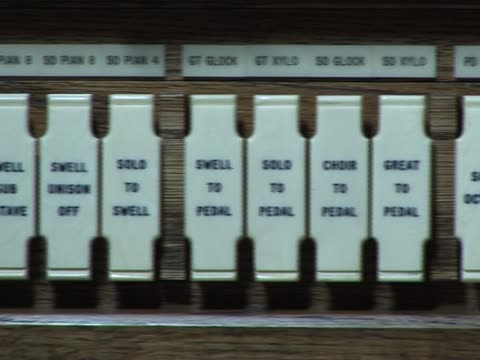 organ switches / stops - musical theater stock videos and b-roll footage