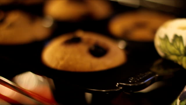 organic blueberry muffins - muffin stock videos and b-roll footage