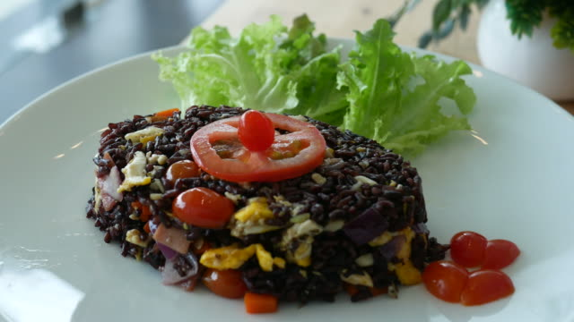 organic food , fried rice - rice stock videos & royalty-free footage