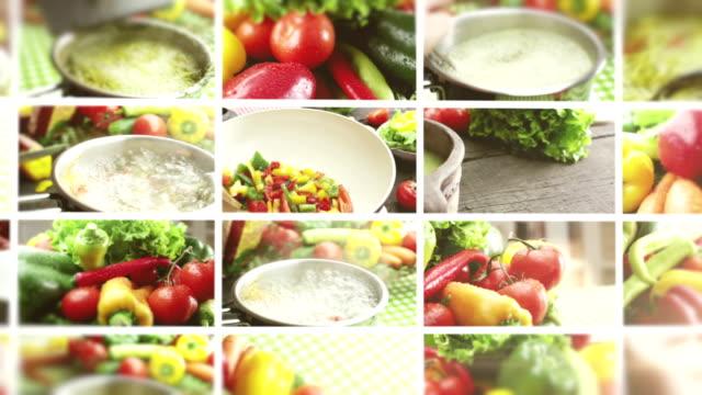 organic fresh food. - montage stock videos & royalty-free footage