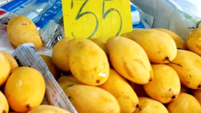 organic fresh mango. - mango stock videos & royalty-free footage