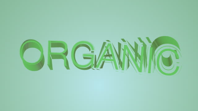 Organic Green Colourful Text