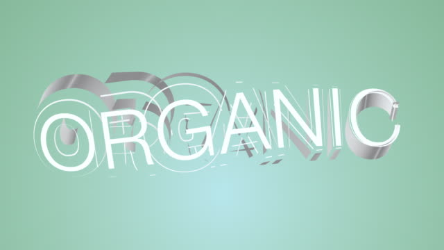 organic green colourful text - organic stock videos & royalty-free footage