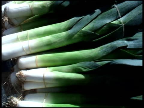 vídeos y material grabado en eventos de stock de orgánico puerros - formato buzón