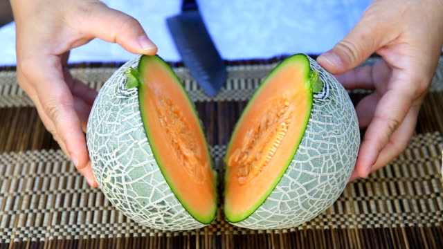 organic melon - orange stock videos & royalty-free footage