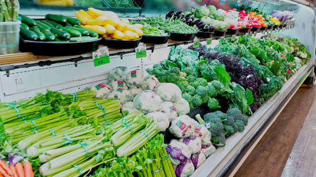 organic produce in high demand in health food stores on april 05 in los angeles, california. - raw food stock videos & royalty-free footage