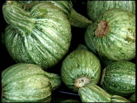 stockvideo's en b-roll-footage met organic white zucchini, courgette, italian or marrow squash - supersensorisch