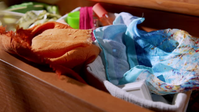 organising cosmetics and toiletries in the drawer - drawer stock videos & royalty-free footage