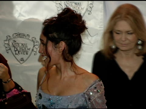 q'orianka kilcher at the 2005 national board of review of motion pictures awards ceremony at tavern on the green in new york new york on january 10... - tavern on the green stock videos & royalty-free footage