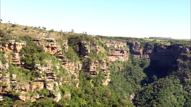 oribi gorge  - aerial view - kwazulu-natal,  south africa - ravine stock videos & royalty-free footage