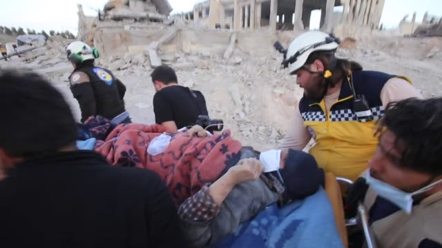 Orient hospital targeted by Government forces air strike in Idlib and patients moved from hospital as Syrian Government try to break down the last...