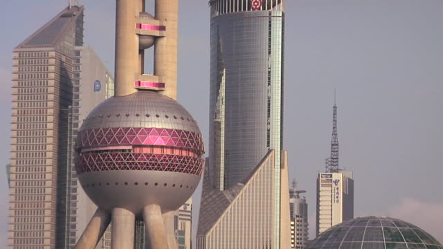 MS ZO Oriental Pearl Tower and other Financial District skyscrapers/ Shanghai, China