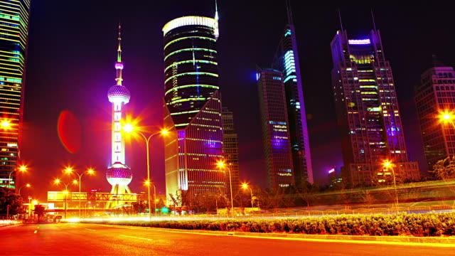 der oriental pearl tower und skyline - wiederholbare elemente stock-videos und b-roll-filmmaterial