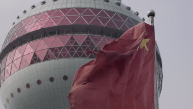 oriental pearl tower. shanghai, china - lujiazui stock videos & royalty-free footage