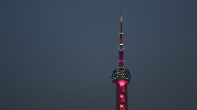Oriental Pearl TV Tower in Shanghai, China