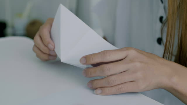 origami art - folding paper stock videos and b-roll footage
