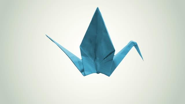 origami bird, 4k - crane stock videos & royalty-free footage