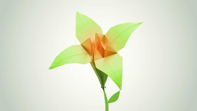 vidéos et rushes de origami fleur, 4k - origami