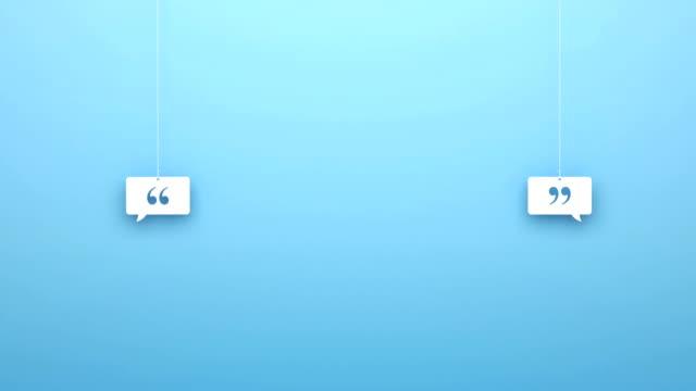 origami pendant speech bubble quotation mark - pendant stock videos & royalty-free footage