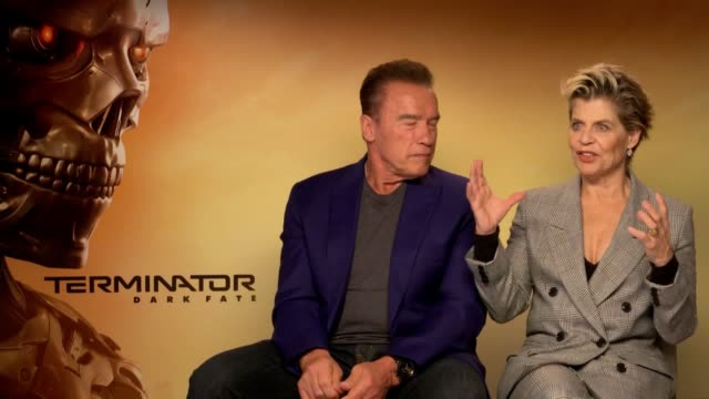 original cast the the terminator reunite for new movie. arnold schwarzenegger and linda hamilton have reunited to create a new movie in the series... - terminator 3: rise of the machines stock videos & royalty-free footage