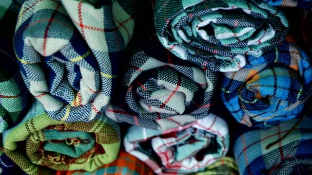 vídeos de stock e filmes b-roll de original thai silk. - braço humano