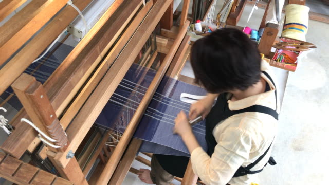 orimono textile shop in okinawa japan - craft product stock videos and b-roll footage