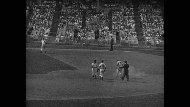orioles visit the yankees, 1955. - fielder stock videos & royalty-free footage