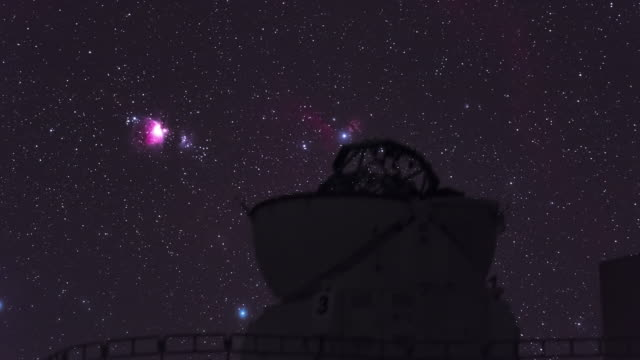 orion nebula in the observatory sky - observatory stock videos & royalty-free footage