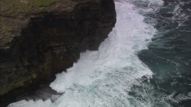 orkney cliffs and waves - 1 minute or greater stock videos & royalty-free footage