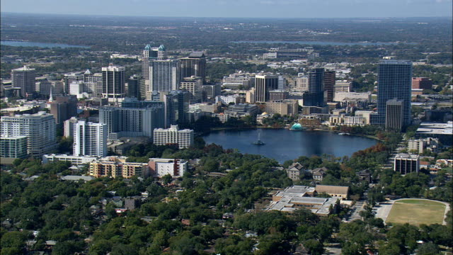 orlando  - aerial view - florida,  orange county,  united states - orlando florida stock videos & royalty-free footage