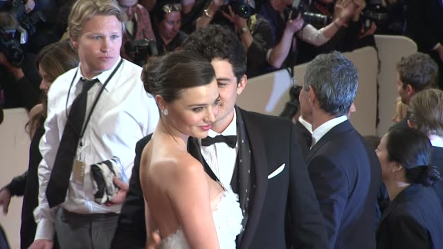 orlando bloom and miranda kerr at the 'alexander mcqueen savage beauty' costume institute gala at the metropolitan museum of art at new york ny - miranda kerr stock videos and b-roll footage