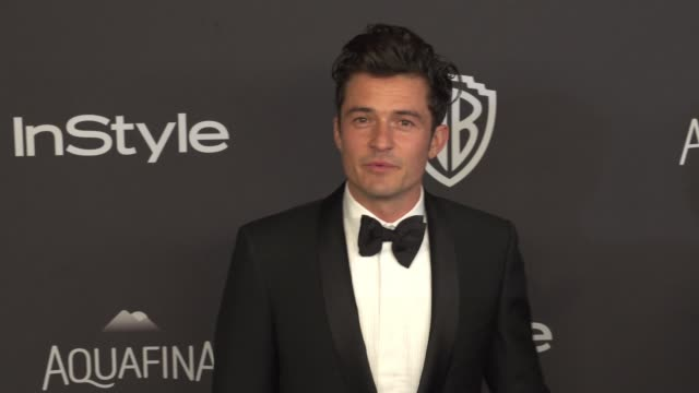 orlando bloom at 17th annual instyle and warner bros pictures golden globe afterparty at the beverly hilton hotel on january 10 2016 in beverly hills... - orlando bloom stock videos & royalty-free footage