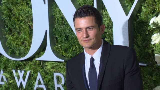 orlando bloom at 2017 tony awards red carpet at radio city music hall on june 11 2017 in new york city - orlando bloom stock videos & royalty-free footage