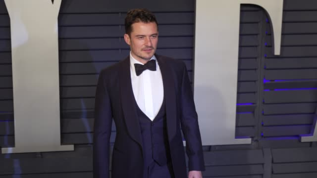 orlando bloom at 2019 vanity fair oscar party hosted by radhika jones at wallis annenberg center for the performing arts on february 24 2019 in... - orlando bloom stock videos & royalty-free footage