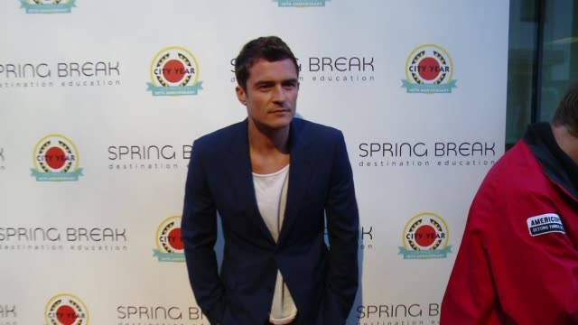 orlando bloom at city year los angeles spring break in los angeles ca - orlando bloom stock videos & royalty-free footage