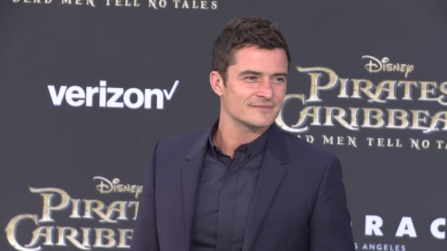 orlando bloom at pirates of the caribbean dead men tell no tales premiere in los angeles ca - orlando bloom stock videos & royalty-free footage