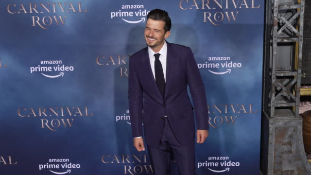 orlando bloom at the los angeles premiere of carnival row at tcl chinese theatre on august 21 2019 in hollywood california - orlando bloom stock videos & royalty-free footage