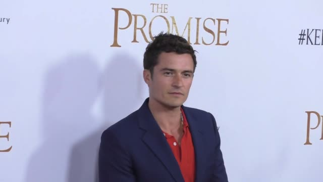 orlando bloom at the promise los angeles premiere at tcl chinese theatre on april 12 2017 in hollywood california - orlando bloom stock videos & royalty-free footage