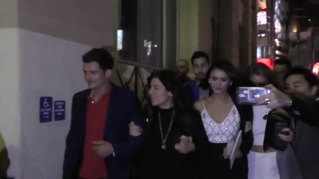 Orlando Bloom Nina Dobrev outside TCL Chinese Theatre in Hollywood in Celebrity Sightings in Los Angeles