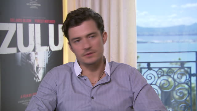 interview orlando bloom on being in cannes at 'zulu' interviews on may 25 2013 in cannes france - orlando bloom stock videos & royalty-free footage