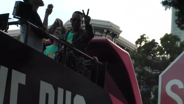 orlando jones takes the mic aboard the syfy bus on day 2 of san diego comic-con international at celebrity sightings in san diego on july 19, 2019 in... - orlando jones stock videos & royalty-free footage