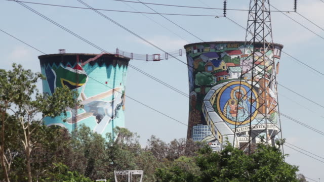 'orlando power station cooling tower' - soweto stock videos and b-roll footage