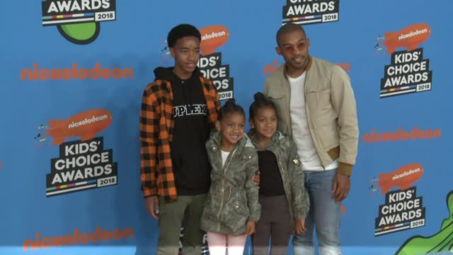 orlando scandrick at the nickelodeon's 2018 kids' choice awards at the forum on march 24 2018 in inglewood california - 31st annual nickelodeon kids' choice awards stock videos and b-roll footage