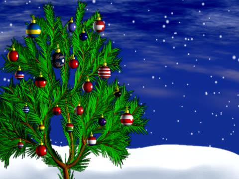 オーナメントで、クリスマスツリーのスピニング - 雑貨点の映像素材/bロール